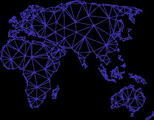 stylized global map